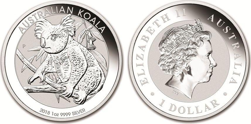 Australie 1 Dollar Elisabeth II - Koala Australie 1 Oz 2018
