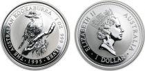 Australie 1 Dollar Elisabeth II - Kookaburra Once Argent 1995