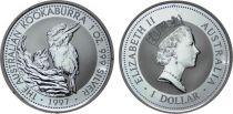 Australie 1 Dollar Elisabeth II - Kookaburra Once Argent 1997