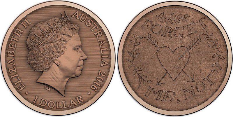 Australie 1 Dollar Elisabeth II - Not forget me 2016