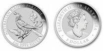Australie 1 Dollar Elisabeth II - Oiseau de Paradis Once 2019 - Argent