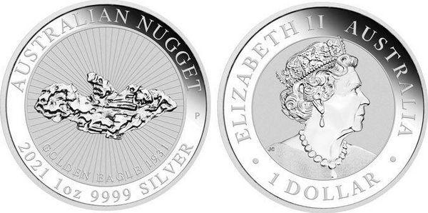 Australie 1 Dollar Elisabeth II - Welcome Stranger Nugget - 1 Once 2021