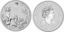 Australie 1 Dollar Tigres - 1 Once Argent 2021