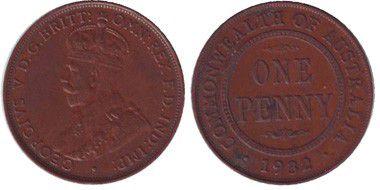 Australie 1 Penny Georges V