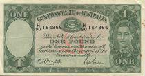 Australie 1 Pound George VI - Travailleurs - 1942