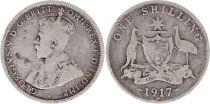 Australie 1 Shilling 1917 -George V - Argent