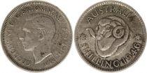 Australie 1 Shilling 1946 -George VI - Argent