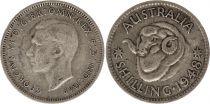 Australie 1 Shilling 1948 -George VI - Argent