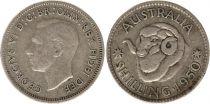 Australie 1 Shilling 1950 -George VI - Argent