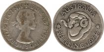 Australie 1 Shilling 1953 - Elisabeth II - Argent