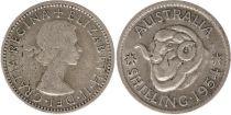 Australie 1 Shilling 1954 - Elizabeth II - Argent