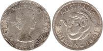 Australie 1 Shilling 1961 - Elizabeth II - Argent
