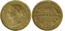 Australie 1 Souverain Victoria - 1868 - Sydney - Or