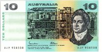 Australie 10 Dollars - Francis Greenway, Henry Layson - 1985
