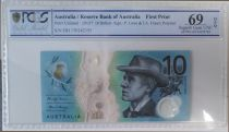 Australie 10 Dollars B. Paterson - M. Gilmore - 2017 Polymer PCGS 69OPQ First Print