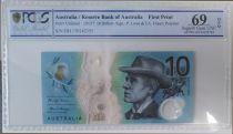 Australie 10 Dollars B. Paterson - M. Gilmore - 2017 Polymer PCGS 69OPQ First Print