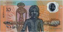 Australie 10 Dollars Voilier du Capt. Cook - Indigène - 1988