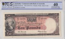 Australie 10 Pounds James Cook (1954-59) PCGS XF 40