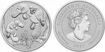 Australie 2 Dollars Elisabeth II - Ornithorynque  - 2 Once Argent 2021