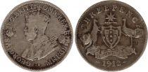 Australie 3 Pence 1912 - George V - Argent