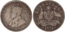 Australie 3 Pence 1921 - George V - Argent