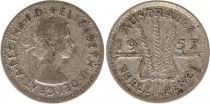 Australie 3 Pence 1957 - Elisabeth II- Argent