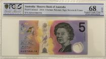 Australie 5 Dollars Elisabeth II - Parlement - 2016 Polymer - PCGS 68 OPQ