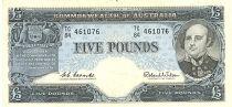 Australie 5 Pounds  - Sir John Franklin - 1960