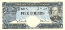 Australie 5 Pounds  - Sir John Franklin - 1960