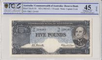 Australie 5 Pounds Sir John Franklin - 1960 -PCGS EF 45