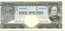 Australie 5 Pounds Sir John Franklin
