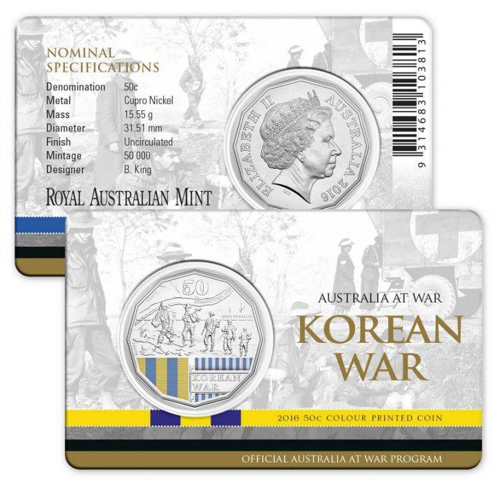 Australie 50 Cents Australie - Guerre de Corée 2016