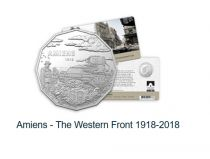 Australie 50 Cents Australie en Guerre - Bataille de Amiens 1918-2018