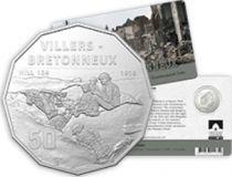 Australie 50 Cents Australie en Guerre - Bataille de Villiers le Bretonneux 1918-2018