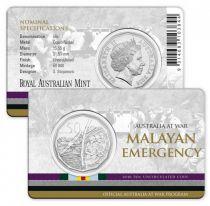 Australie 50 Cents Australie en Guerre - Malaya 2016
