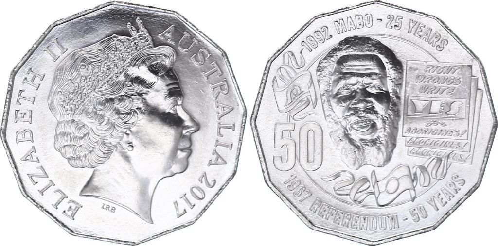 Australie 50 Cents Elisabeth II - Eddie Mabo - 2017