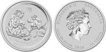 Australie 50 Cents Elisabeth II - Singes 1/2 Once Argent 2016