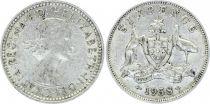 Australie 6 Pence Elizabeth II - 1958