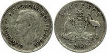 Australie 6 Pence George VI - 1951