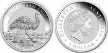 Australien 1 Dollar Elisabeth II - Emu - 1 Oz Silver 2018