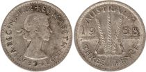 Australien 3 Pence 1958 - Elisabeth II- Argent