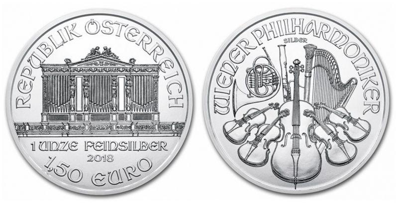 Coin Austria 1,50 Euro Oz Silver Philarmonic Orchestra - 2018