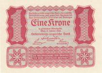 Austria 1 Krone Red, uniface - 1922