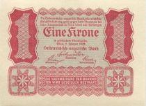 Austria 1 Krone Red, uniface