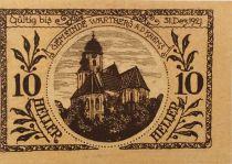 Austria 10 Heller, Wartberg - notgeld 1921 - aUNC