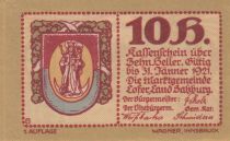 Austria 10 Heller 1921 - Coat of Arms - City of Lofer, notgel 2nd type
