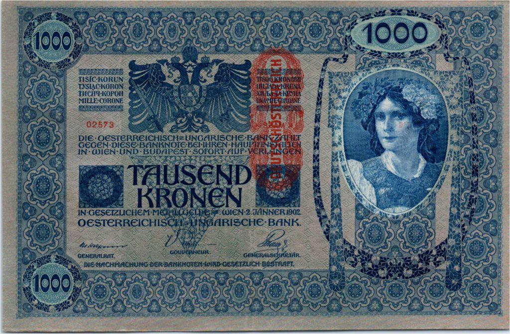 VF Austria P 59-1000 Kronen 1919