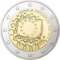Austria 2 Euro, 30 years of Eropean Flag - 2015
