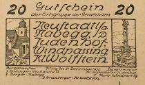 Austria 20 Heller, Neustadt - notgeld 1920 - aUNC