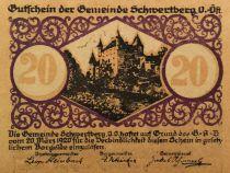 Austria 20 Heller, Schwertberg - notgeld 1920 - aUNC